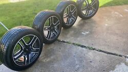 18 Ford Mustang Gt Oem 2019 Black Wheels Rims Tires With Tpms Sensors
