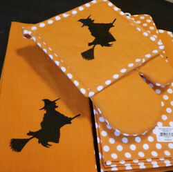 Witch Potholder With Oven Mitt- Lenox-new