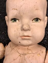 Vintage Antiq 20s 30s Hand Painted Composition Infant Child Store Full Mannequin