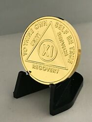 11 Year Gold Plated Aa Medallions