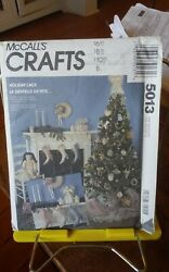 Oop Mccalls Crafts 5013 Holiday Lace Victorian Christmas Decorations New