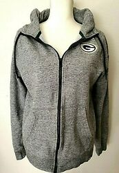 Green Bay Packers Nike Womens Gray Zip Up Hoodie Size Small