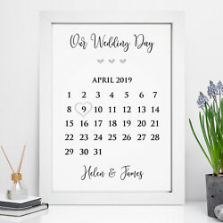 Personalised Wedding Print Memory Gift Date Mr And Mrs Mrs And Mrs Mr And Mr Gifts