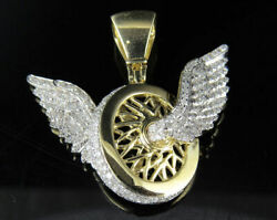 1.75ct Natural Diamond G-h Flying Wheels Logo Pendant 925 Sterling Silver Si1