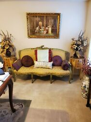 Antique Sofa And Matching Chairs Imported From France
