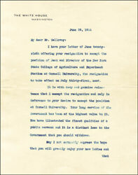 Woodrow Wilson - Typed Letter Signed 06/29/1914