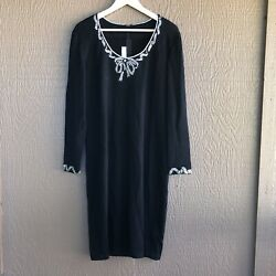 St. John Evening Embellished Knit Dress Size 12 $50.00
