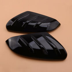 2pcs Gloss Black Side Door Rearview Mirror Cover Trim Decor Fit For Honda Civic