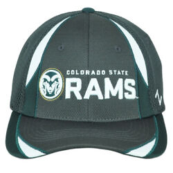 Ncaa Zephyr Colorado State Rams Fitted Stretch Youth Kid Green Jersey Hat Cap