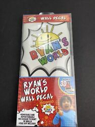 RYAN#x27;S WORLD WALL DECALS REMOVABLE amp; REPOSITIONABLE BONUS 3D ACTION BNIP :