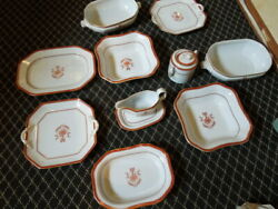 136 Pieces Of Spode China Newburyport Red Service For 12 27 Serving