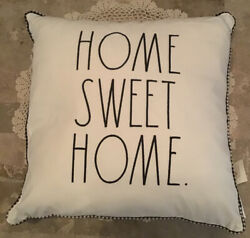 NWT Rae Dunn HOME SWEET HOME Decorative Throw Pillow