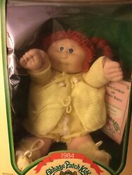 Vintage 1984 Coleco Cabbage Patch Kid Girl Doll Authentic Box/birth Certificate