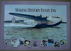 Boeing 75th Anniversary Poster Flying Taxi 314 Pan Am Airplane 1916-1991 Seattle