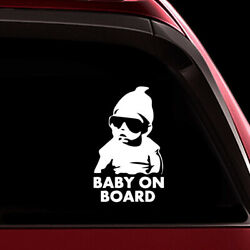 Hot Decoration Funny Wall Baby on Board Car Sticker Vinyl Decal Reflective