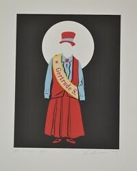 Robert Indiana Gertrude Stein Original Lithograph On Paper H/s And Numbered Coa