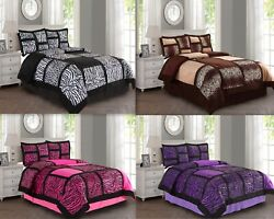 Empire Home Animal Print 4pc. Comforter Set With Pillow Shams- New Arrival Sale