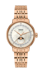 Rado Coupole Classic Diamonds Moon Phase Mother Of Pearl Womenand039s Watch R22884963