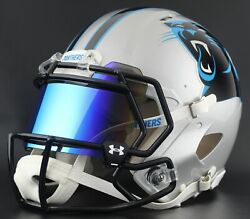Carolina Panthers Authentic Gameday Football Helmet W/ Under Armour Eye Shield