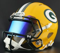 Green Bay Packers Authentic Gameday Football Helmet W/ Under Armour Eye Shield