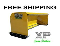 8' Xp30 Snow Pusher With Pullback Bar Free Shipping-rtr Skid Steer Bobcat
