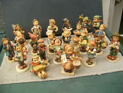 HUMMELS LOTS OF 23 PIECES OLD FIGURINES ALL 5 1 2 INCHES AND ABOWE GREAT COND.