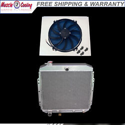 3row Radiator And Shroud And16 Fan For 53 54 55 56 Ford F100 F250 F350 Pickup Truck