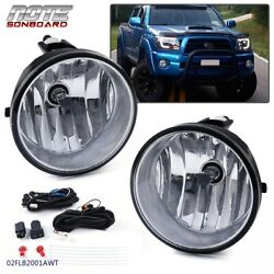 Bumper Fog Lights Driving Lamps + Bulbs Complete Kit For 2005-2011 Toyota Tacoma