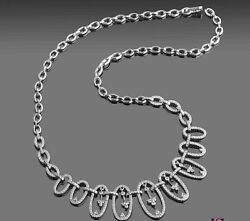 2.35ct Natural Diamond G-h Round Cut Necklace In 14k White Gold Si1 Birthday