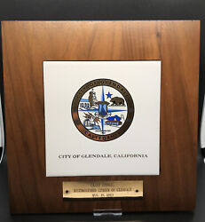 Casey Stengel Yankees Hof Personally Owned Award Plaque From Glendale Home 1/1