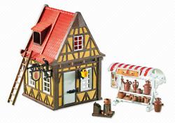 Playmobil 6524 Medieval Pottery Shop Timber-frame House Add-on New Sealed