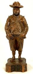 Vintage Ouro Artesania No. 705 Wood Carved Sculpture Spanish Man 15.5
