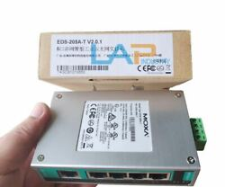1pcs New For Moxa 5-port Ethernet Switch Eds-205a-t 12/24/48 Vdc 18-30 Vac 0.29a