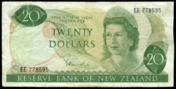 New Zealand - 20 - Hardie And039type 1and039 - Ee778595 - First Prefix - Fine