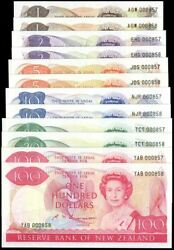 New Zealand - 1 To 100 - Russell Matched Sets 857 And 858 - Uncirculated