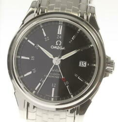Omega De Ville 4533.51 Gmt Coaxial Black Dial Automatic Menand039s Watch_555406