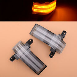 Dual-row Led Strip Tow Mirror Marker Light Assembly Fit For Chevrolet Silverado