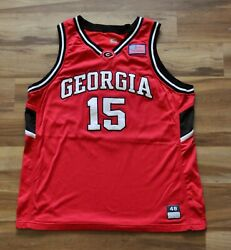 15 Mike Patrick Georgia Bulldogs Game Used/team Issued Jersey Red Nike 48