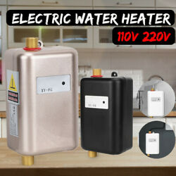3000w 110v/220v Instant Electric Tankless Hot Water Heater Shower Kitchen Washin