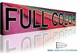 Open Full Color 10mm Led Signs 24 X 76 Programmable Text Animation Display