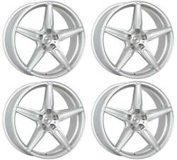 4 Alloy Wheels Oxigin 21 Oxflow 9x20 Et35 5x112 Sil For Bentley Continental