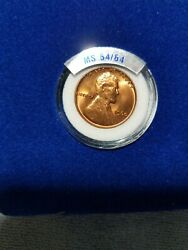 1960 Lincoln Wheat Penny In Uncirculated High Grade Condition Nice Red Color