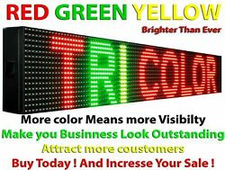 Tri Color Business Store Shop Window Digital Led Sign 7 X 100 Text Display