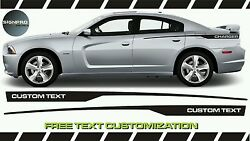 Side Rally Stripes Decals Graphics Fits Dodge Charger Rally Spikes Fader Sale