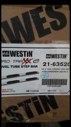 Westin Pro Traxx 6 Stainless Oval Step Bars 09-14 Ford F-150 Supercrew Cab