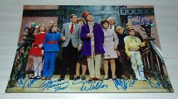 Willy Wonka And The Chocolate Factory Cast Signed Autograph 8x12 Photo W/coa