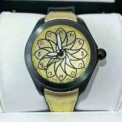New Corum Bubble 082.410.98/0065 Vo65 Steel Pvd Black 42mm Gold Dial Auto Watch