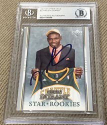 2007-2008 Upper Deck 234 Kevin Durant Rookie Bgs On Card Auto Rc Star Rookie
