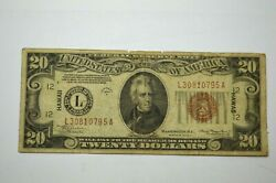 Hawaii 1934a 20 San Francisco Brown Seal Fed.reserve Us Note Wwii Bill P. Money