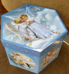 Amazing Vintage Angel Christmas Paper Mache Ornaments Set Of 12 With Box